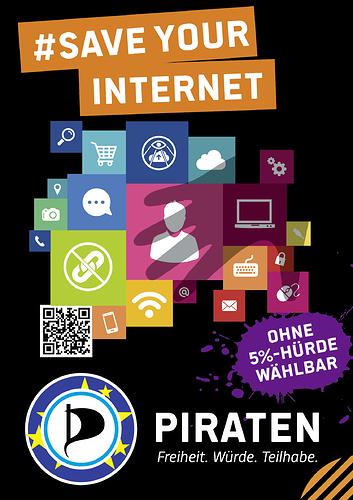 Für ein freies Internet am 26.05. Piraten wählen
